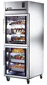 Top Mount Deep Reach-In Half Glass Door Refrigerator - 31 Cubic Feet