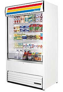 True Air Curtain Vertical Merchandiser TAC-48