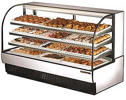 Curved Glass Dry Bakery Display Case TCGD-77