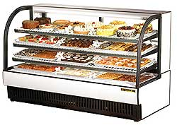 Curved Glass Refrigerated Bakery Display Case