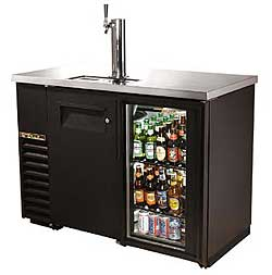 True Combo Door Direct Draw 24 Inch Back Bar Beer Dispensers
