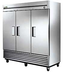 True Solid Three Door Refrigerator - T-72-HC