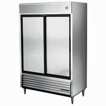 True Stainless Steel Slide Door Refrigerator
