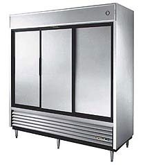 True Stainless Steel Slide Door Refrigerator TSD-69