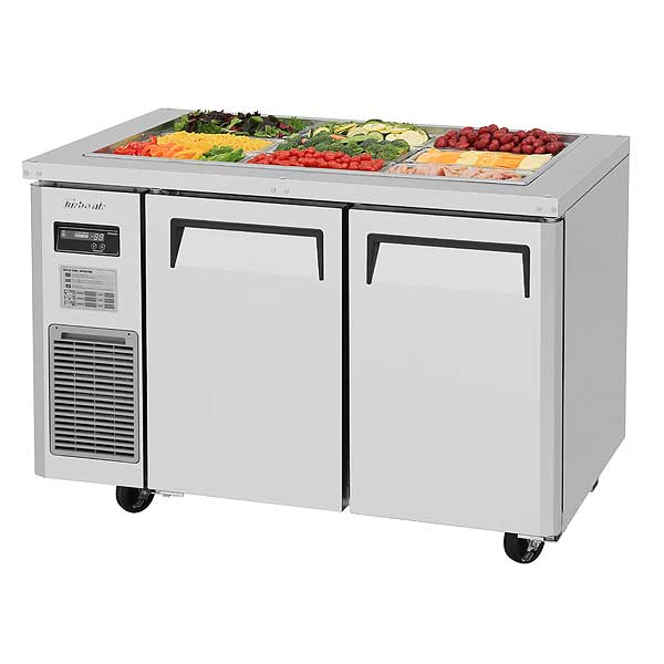 Turbo Air J Series Refrigerated Buffet Table Two-section Front Breathing - JBT-48-N