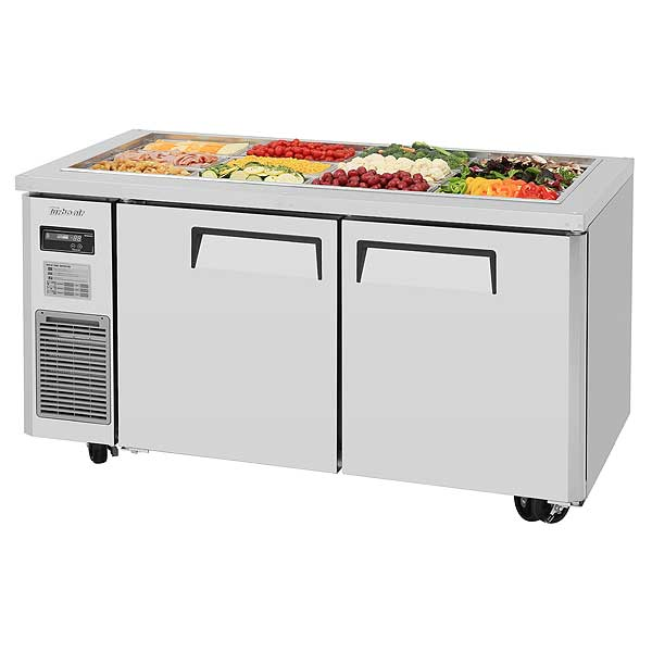 Turbo Air J Series Refrigerated Buffet Table Two-section Front Breathing - JBT-60-N