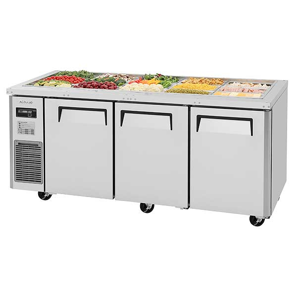 Turbo Air J Series Refrigerated Buffet Table Three-section Front Breathing - JBT-72-N