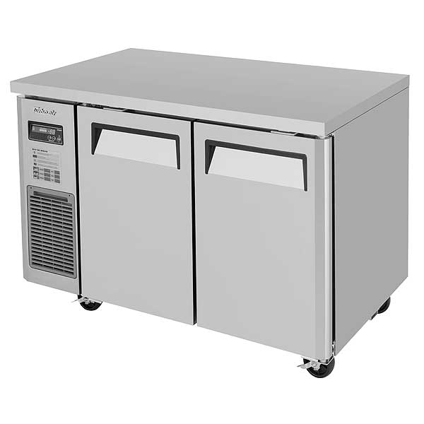 Turbo Air J Series Side Mount Undercounter Freezer Two-section 9.93 Cu. Ft. - JUF-48-N