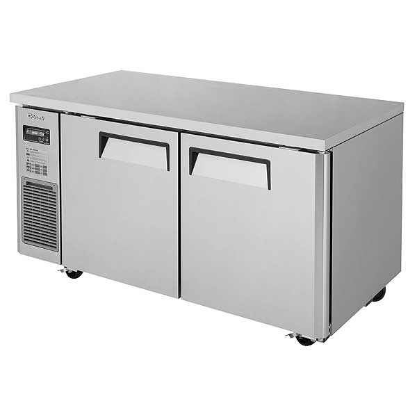 Turbo Air J Series Side Mount Undercounter Freezer Two-section 13.58 Cu. Ft. - JUF-60-N