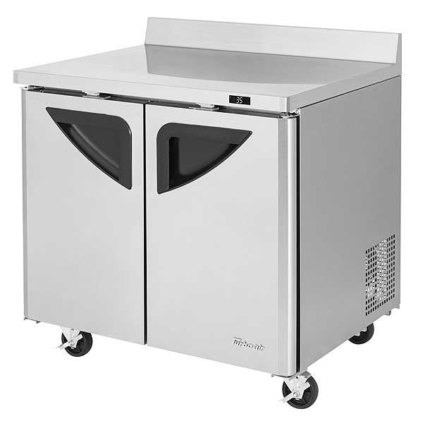 Turbo Air Super Deluxe Worktop Refrigerator Two-section 9.0 Cu. Ft. - TWR-36SD-N6