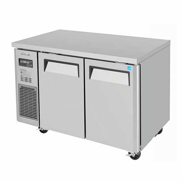 Turbo Air J Series Side Mount Undercounter Refrigerator Two-section 9.93 Cu. Ft. - JUR-48-N6
