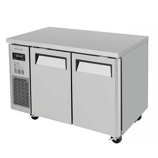 Turbo Air J Series Side Mount Undercounter Dual Temp Refrigerator/Freezer Two-section 4.48 Cu. Ft. Refrigerator - JURF-48-N
