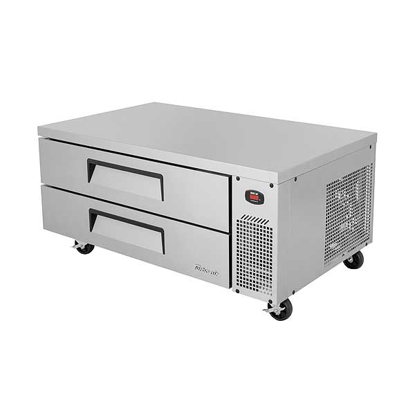 Turbo Air Super Deluxe Chef Base Refrigerator 9.1 Cu. Ft. Side Mounted Self-contained Refrigeration System - TCBE-52SDR-N