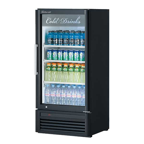 Turbo Air Super Deluxe Refrigerated Merchandiser One-section 8.12 Cu. Ft. - TGM-10SD-N6