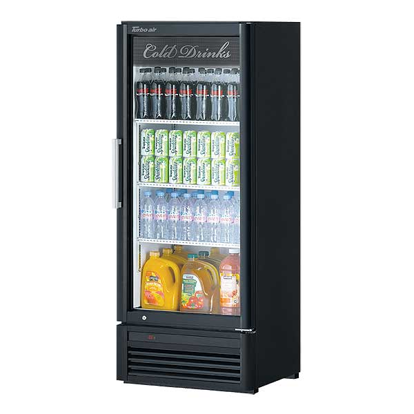 Turbo Air Super Deluxe Refrigerated Merchandiser One-section 10.19 Cu. Ft. - TGM-12SD-N6
