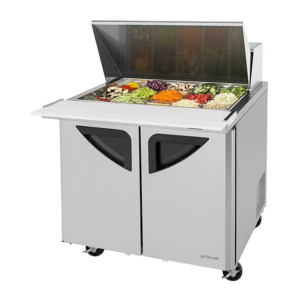 Turbo Air Super Deluxe Sandwich/Salad Mega Top Unit Two-section 11.0 Cu. Ft. - TST-36SD-15-N6