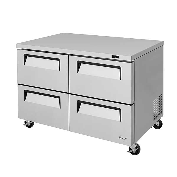 Turbo Air Super Deluxe Series Undercounter Freezer Two-section 12.0 Cu. Ft. - TUF-48SD-D4-N
