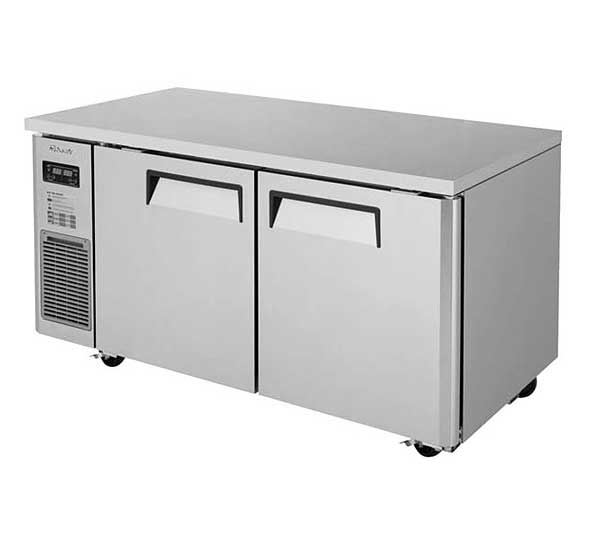 Turbo Air J Series Side Mount Undercounter Dual Temp Refrigerator/Freezer Two-section 6.28 Cu. Ft. Refrigerator - JURF-60-N
