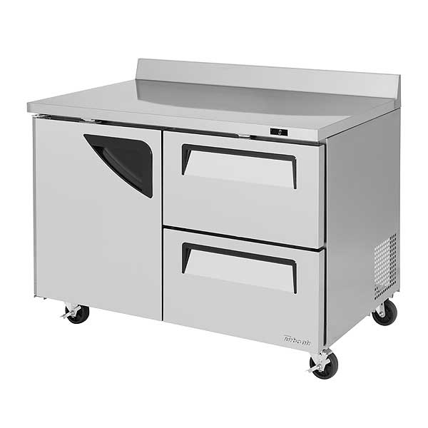 Turbo Air Super Deluxe Worktop Freezer Two-section 12.0 Cu. Ft. - TWF-48SD-D2-N