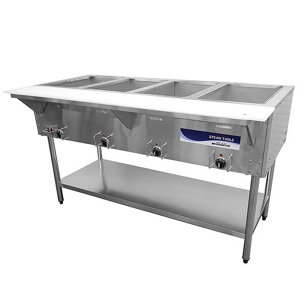 Radiance Electric Hot Food Steam Table Serving Counter - RST-4P-240
