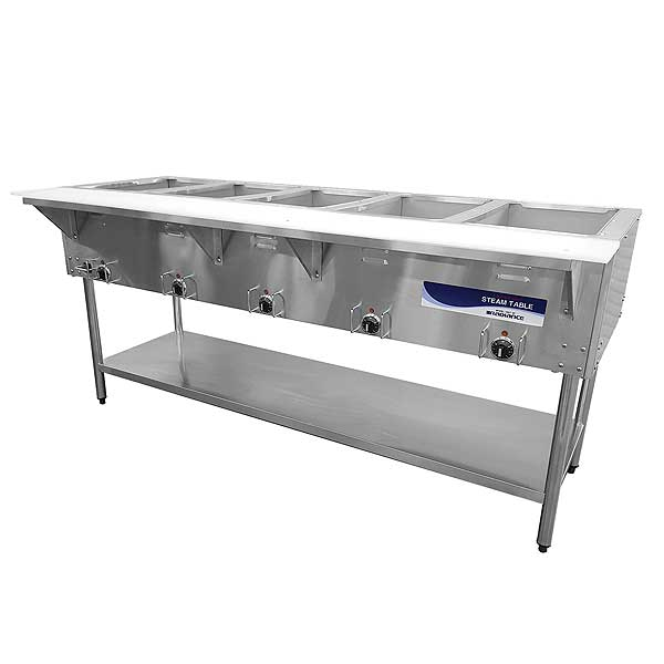 Radiance Electric Hot Food Steam Table Serving Counter - RST-5P-240
