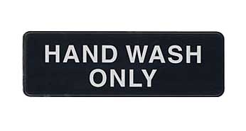 Hand Wash Only Sign - S39-32BK