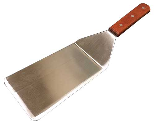 Solid Stainless Steel Turner With Wood Handle, 4 x 8 Inch Blade - WTSD-48