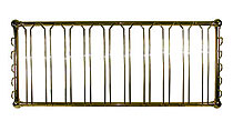 """Brass Plated Hanging Glass Rack 48"""""""
