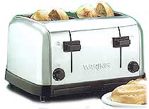 Waring Four Slice Commercial Toaster WCT708