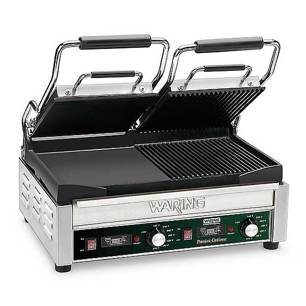 Waring Commercial Dual Surface Panini Grill Electric Double - WDG300T