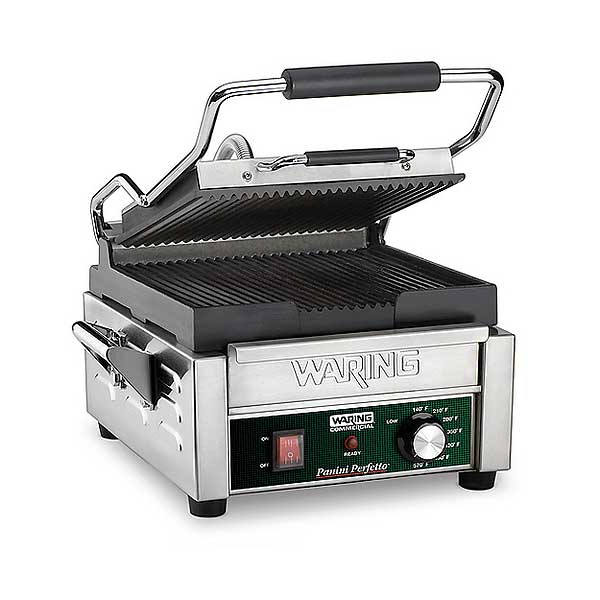 Waring Commercial Panini Perfetto Compact Panini Grill Electric Single - WPG150B