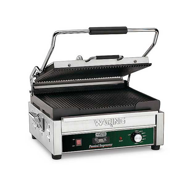 Waring Commercial Panini Supremo Large Panini Grill Electric Single - WPG250TB