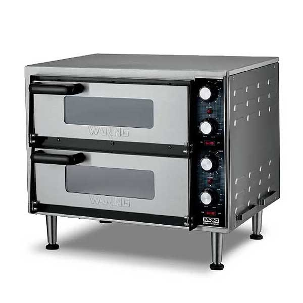 Waring Commercial Double-Deck Pizza Oven Electric Countertop - WPO350