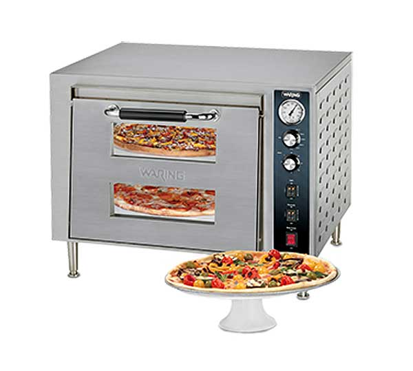 Waring Commercial Double-Deck Pizza Oven Electric Countertop - WPO700