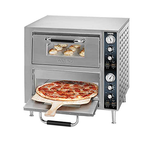 Waring Commercial Double-Deck Pizza Oven Electric Countertop - WPO750