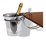 Chrome Wine Bucket with Holder by World Cuisine