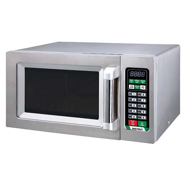 Winco Spectrum Commercial Microwave .9 Cubic Feet Capacity 1000 W Output - EMW-1000ST