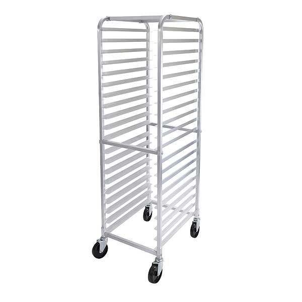 "Winco Sheet Pan Rack Mobile (20) Full-size 18""x26"" Or (40 ) Half-size 18""x13"" 3"" Runner Spacing - ALRK-20"