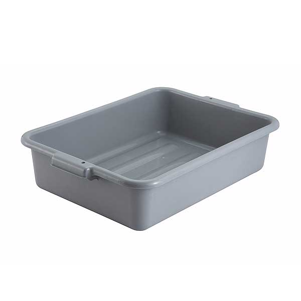 "Winco Dish Box 20-1/4"" X 15-1/2"" X 5"" 1-compartment - PL-5G"