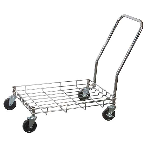 "Winco Dolly 27""L X 18-1/4""W X 2-1/2""H (height Does Not Include Handle Or Casters) For Dough Boxes - DWR-2617"