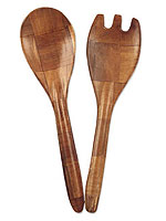 Wood Fork & Spoon Set